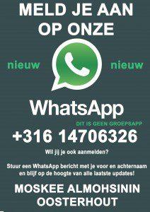 Nieuw whatsapp flyer